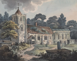 View of Grendon Church near Atherstone